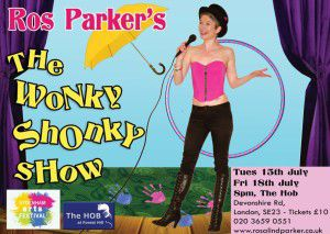 Ros Parker - The Wonky Shonky Show Flyer